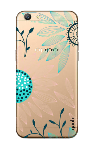 Pink And Blue Petals Oppo A57 Cases & Covers Online