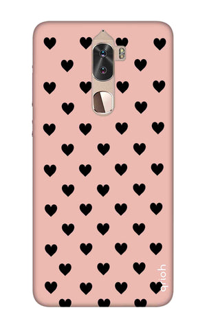 Black Hearts On Pink Coolpad Cool 1 Cases & Covers Online