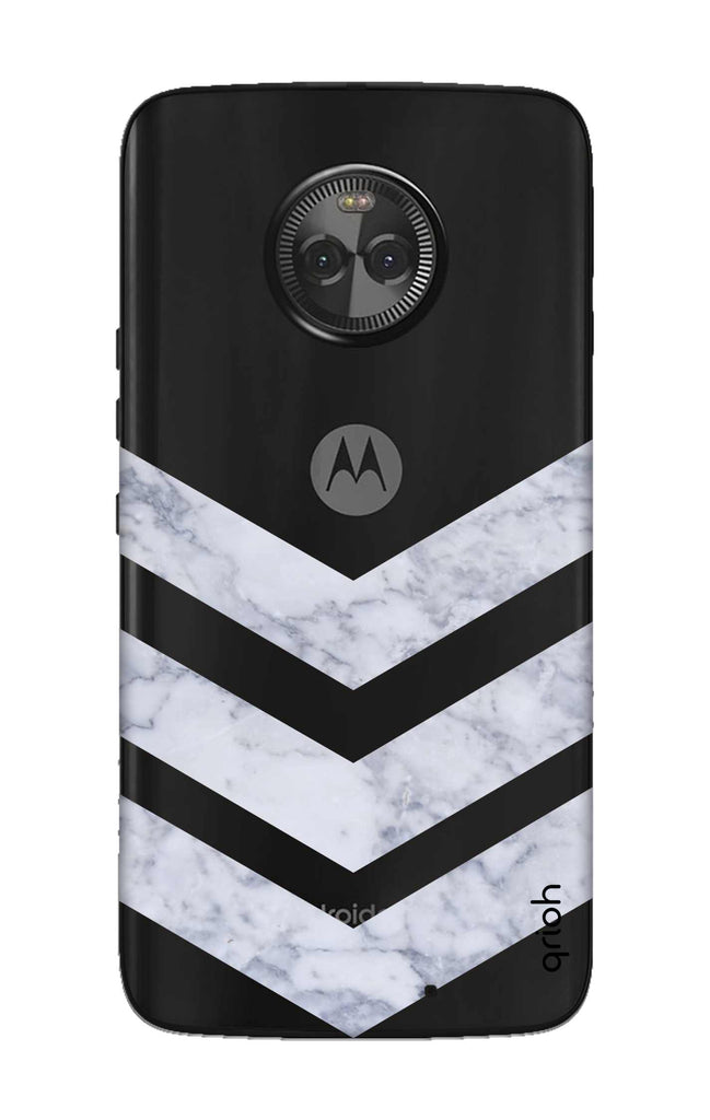 the latest 0b288 18e39 Marble Chevron Case for Motorola Moto X4
