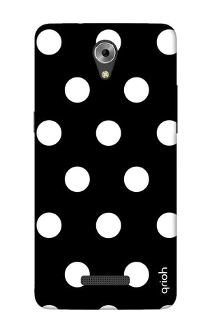 White Polka On Black Coolpad Mega 3 Cases & Covers Online