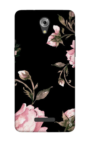 Pink Roses On Black Coolpad Mega 3 Cases & Covers Online