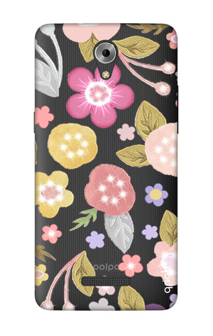 Multi Coloured Bling Floral Coolpad Mega 3 Cases & Covers Online