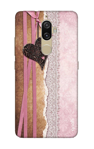 Heart in Pink Lace Lenovo K8 Plus Cases & Covers Online