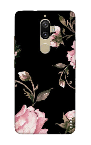 Pink Roses On Black Lenovo K8 Plus Cases & Covers Online
