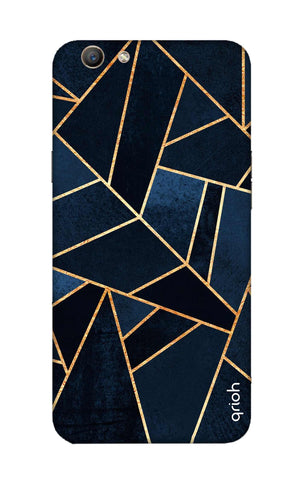 Abstract Navy Oppo F1S Cases & Covers Online