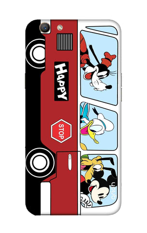 Cartoon Bus Oppo F1S Cases & Covers Online