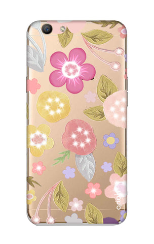 Multi Coloured Bling Floral Oppo F1S Cases & Covers Online