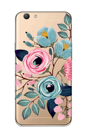 Pink And Blue Floral Oppo F1S Cases & Covers Online