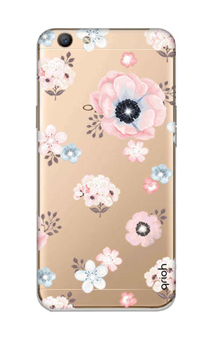 Beautiful White Floral Oppo F1S Cases & Covers Online
