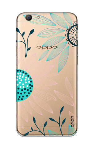 Pink And Blue Petals Oppo F1S Cases & Covers Online
