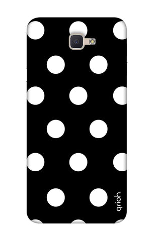 White Polka On Black Samsung ON7 Prime Cases & Covers Online