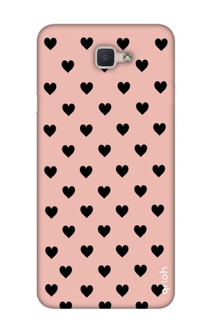 Black Hearts On Pink Samsung ON7 Prime Cases & Covers Online