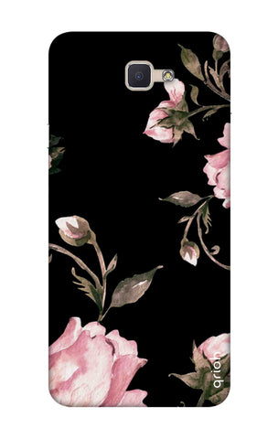 Pink Roses On Black Samsung ON7 Prime Cases & Covers Online