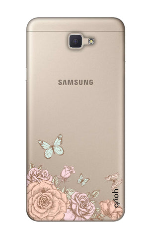 Flower And Butterfly Samsung ON7 Prime Cases & Covers Online