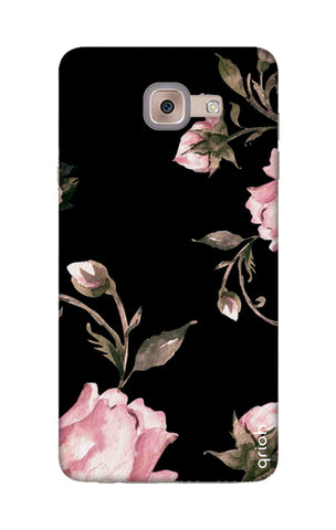 Pink Roses On Black Samsung ON Max Cases & Covers Online