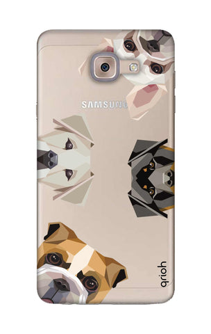 Geometric Dogs Samsung ON Max Cases & Covers Online