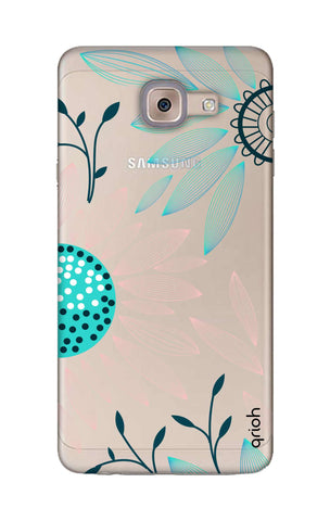 Pink And Blue Petals Samsung ON Max Cases & Covers Online