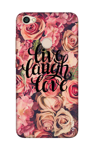 Floral Live, Laugh, Love Xiaomi RedMi Y1 Cases & Covers Online