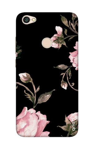 Pink Roses On Black Xiaomi RedMi Y1 Cases & Covers Online