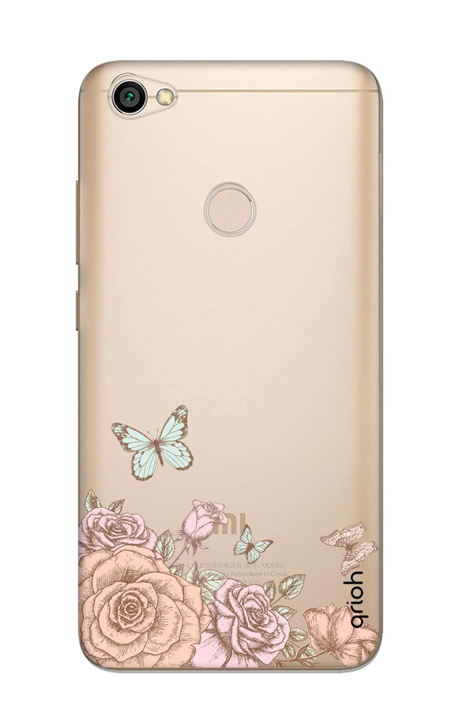 reputable site e63fc 2d207 Flower And Butterfly Case for Xiaomi RedMi Y1