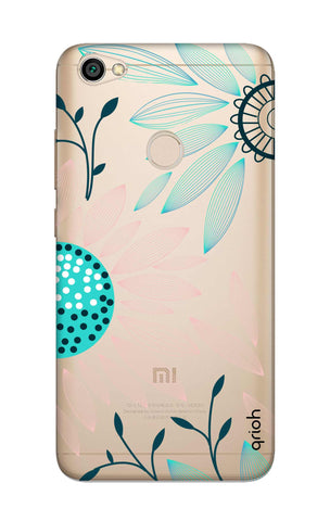 Pink And Blue Petals Xiaomi RedMi Y1 Cases & Covers Online