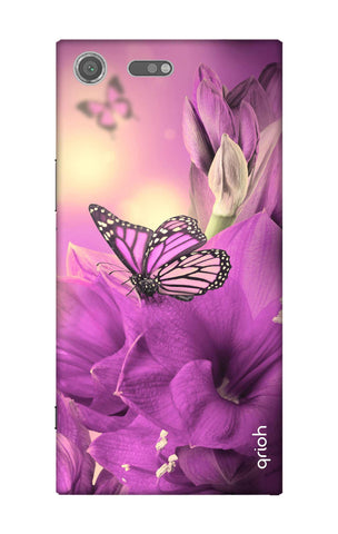 Purple Butterfly Sony Xperia XZ Premium Cases & Covers Online