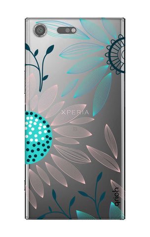 Pink And Blue Petals Sony Xperia XZ Premium Cases & Covers Online