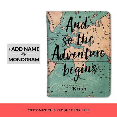 Adventure Begins Custom Passport Cover