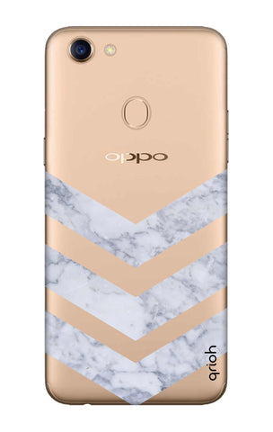 Marble Chevron Oppo F5 Cases & Covers Online