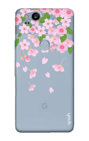 Pretty Pink Floral Google Pixel 2 Cases & Covers Online