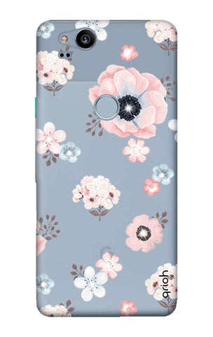 Beautiful White Floral Google Pixel 2 Cases & Covers Online
