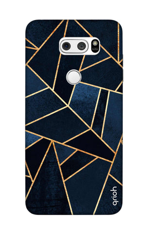 Abstract Navy LG V30 Cases & Covers Online