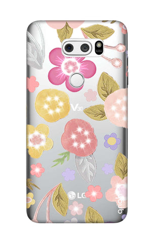 Multi Coloured Bling Floral LG V30 Cases & Covers Online