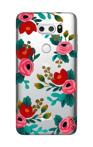 Red Floral LG V30 Cases & Covers Online