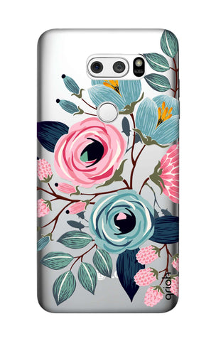 Pink And Blue Floral LG V30 Cases & Covers Online
