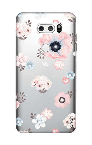 Beautiful White Floral LG V30 Cases & Covers Online