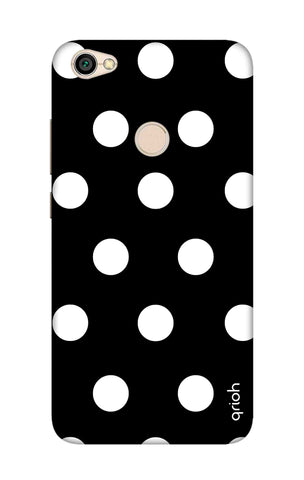 White Polka On Black Xiaomi RedMi Note 5A Cases & Covers Online