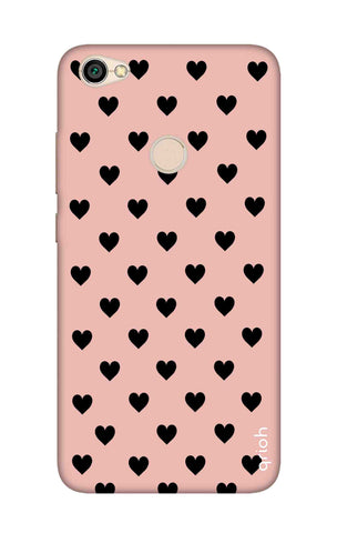 Black Hearts On Pink Xiaomi RedMi Note 5A Cases & Covers Online