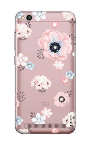 Beautiful White Floral Xiaomi RedMi 5A Cases & Covers Online