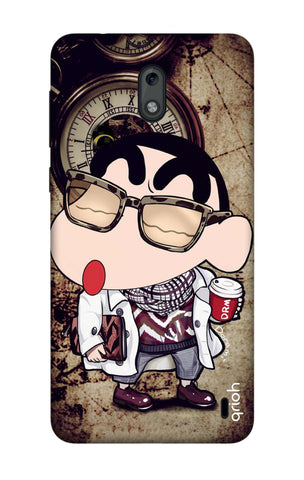 Nerdy Shinchan Nokia 2 Cases & Covers Online