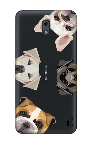 Geometric Dogs Nokia 2 Cases & Covers Online
