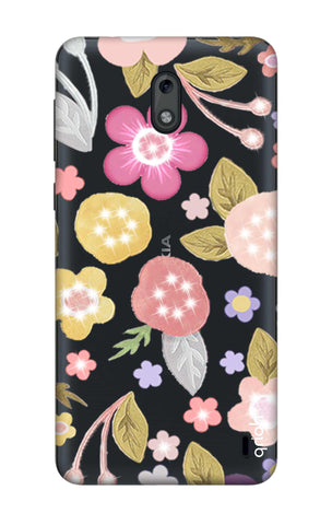 Multi Coloured Bling Floral Nokia 2 Cases & Covers Online