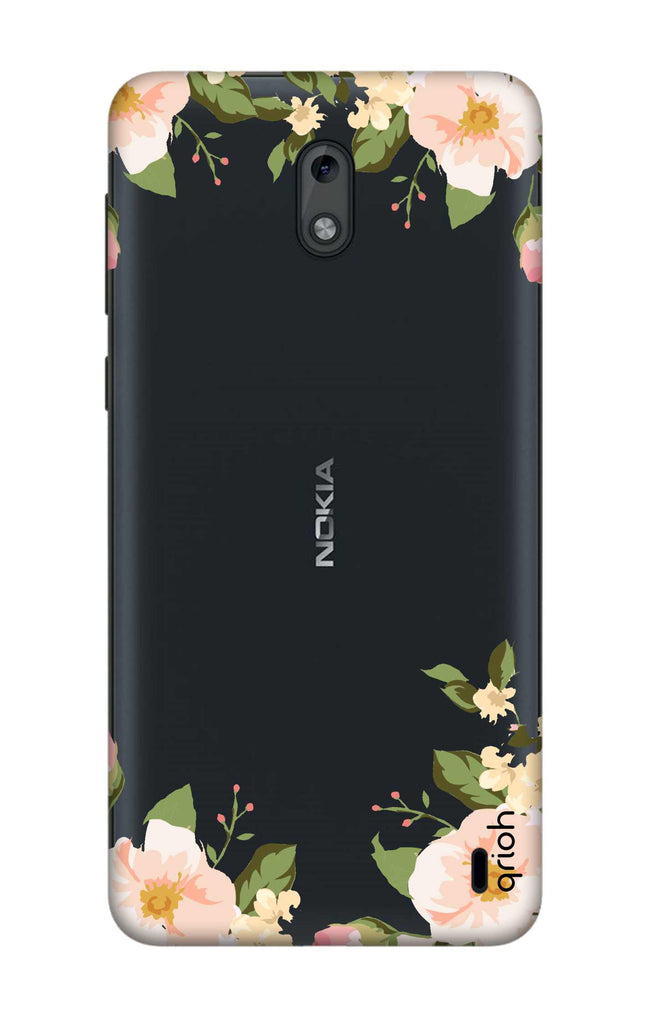 best website cc326 d249b Flower In Corner Case for Nokia 2