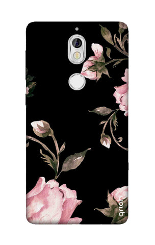 Pink Roses On Black Nokia 7 Cases & Covers Online