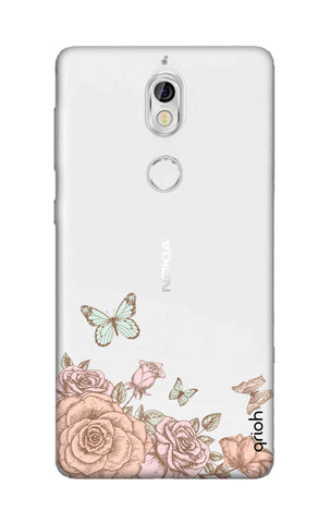 Flower And Butterfly Nokia 7 Cases & Covers Online