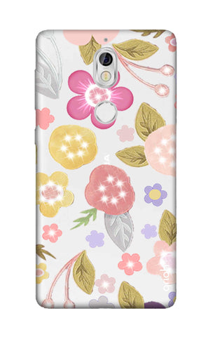 Multi Coloured Bling Floral Nokia 7 Cases & Covers Online