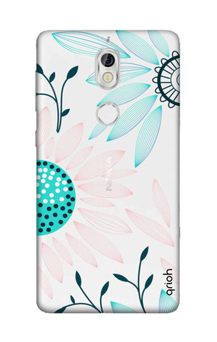 Pink And Blue Petals Nokia 7 Cases & Covers Online