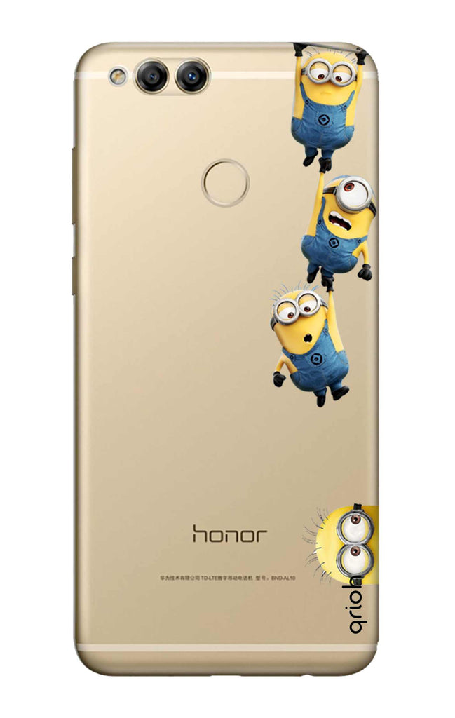 newest f64ae de11d Falling Minions Case for Honor 7X
