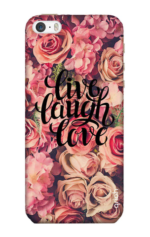 Floral Live, Laugh, Love iPhone 5 Cases & Covers Online