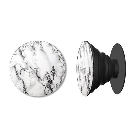 Marble in White Phone Grip with Mount